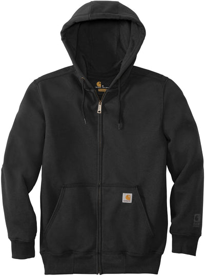 Carhartt Rain Defender Paxton Heavyweight Hooded Zip-Front Sweatshirt-S-Black-Thread Logic