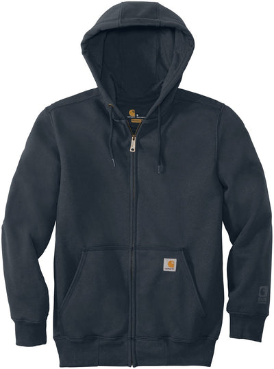 Carhartt Rain Defender Paxton Heavyweight Hooded Zip-Front Sweatshirt-S-New Navy-Thread Logic