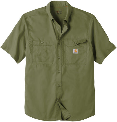 Carhartt Force Ridgefield Solid Short Sleeve Shirt-M-Burnt Olive-Thread Logic
