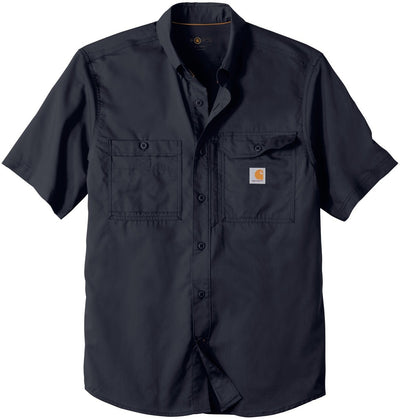 Carhartt Force Ridgefield Solid Short Sleeve Shirt-M-Navy-Thread Logic