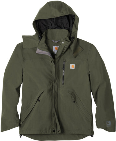 Carhartt Shoreline Jacket-S-Olive-Thread Logic logo-right