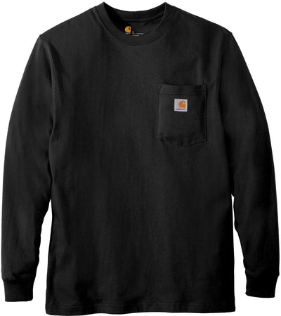 Carhartt Workwear Pocket Long Sleeve T-Shirt-S-Black-Thread Logic