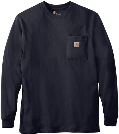 Carhartt Workwear Pocket Long Sleeve T-Shirt-S-Navy-Thread Logic