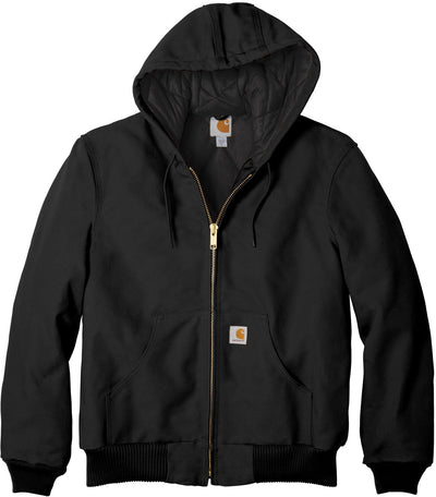Carhartt Quilted-Flannel-Lined Duck Active Jac-S-Black-Thread Logic