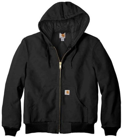 Carhartt Tall Quilted-Flannel-Lined Duck Active Jac-MT-Black-Thread Logic