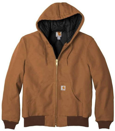 Carhartt Tall Quilted-Flannel-Lined Duck Active Jac-MT-Carhartt Brown-Thread Logic