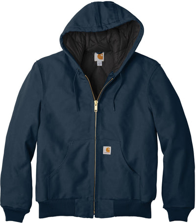 Carhartt Quilted-Flannel-Lined Duck Active Jac-S-Dark Navy-Thread Logic