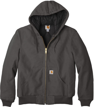 Carhartt Quilted-Flannel-Lined Duck Active Jac-S-Gravel-Thread Logic