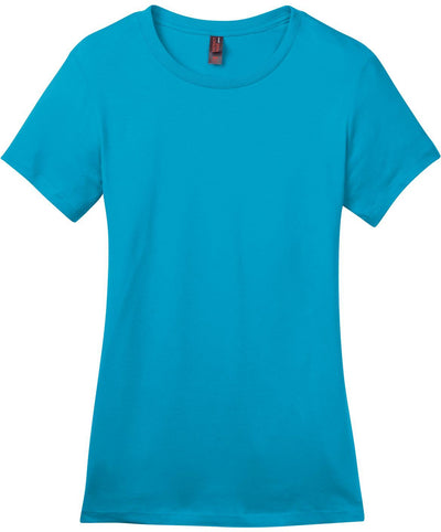 District-Ladies Perfect Weight Crew Tee-XS-Bright Turquoise-Thread Logic