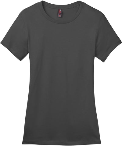 District-Ladies Perfect Weight Crew Tee-XS-Charcoal-Thread Logic