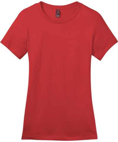 District-Ladies Perfect Weight Crew Tee-XS-Classic Red-Thread Logic