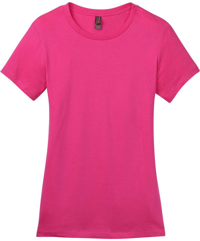 District-Ladies Perfect Weight Crew Tee-XS-Dark Fuschia-Thread Logic