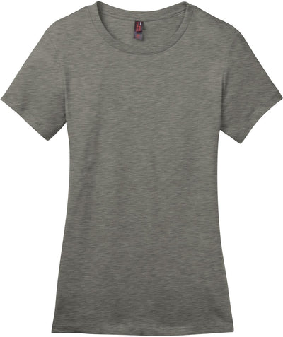 District-Ladies Perfect Weight Crew Tee-XS-Heathered Steel-Thread Logic