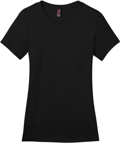 District-Ladies Perfect Weight Crew Tee-XS-Jet Black-Thread Logic
