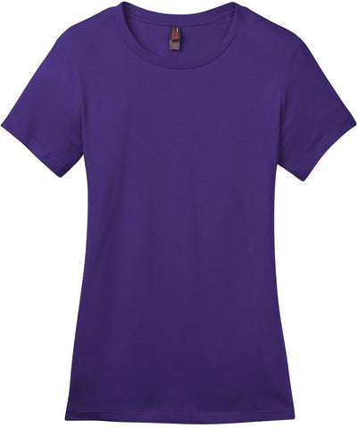 District-Ladies Perfect Weight Crew Tee-XS-Purple-Thread Logic