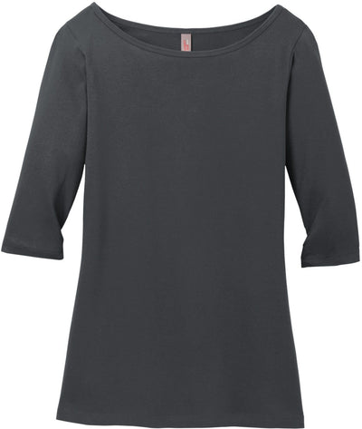 District Ladies Perfect Weight 3/4-Sleeve Tee
