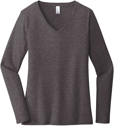 District Ladies Very Important Tee Long Sleeve V-Neck