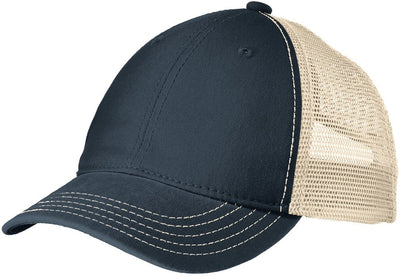 District-Super Soft Mesh Back Cap-New Navy/Stone-Thread Logic