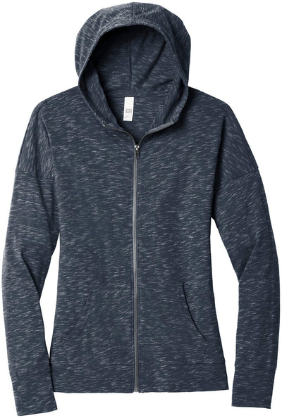 District Ladies Medal Full-Zip Hoodie-Ladies Layering-Thread Logic