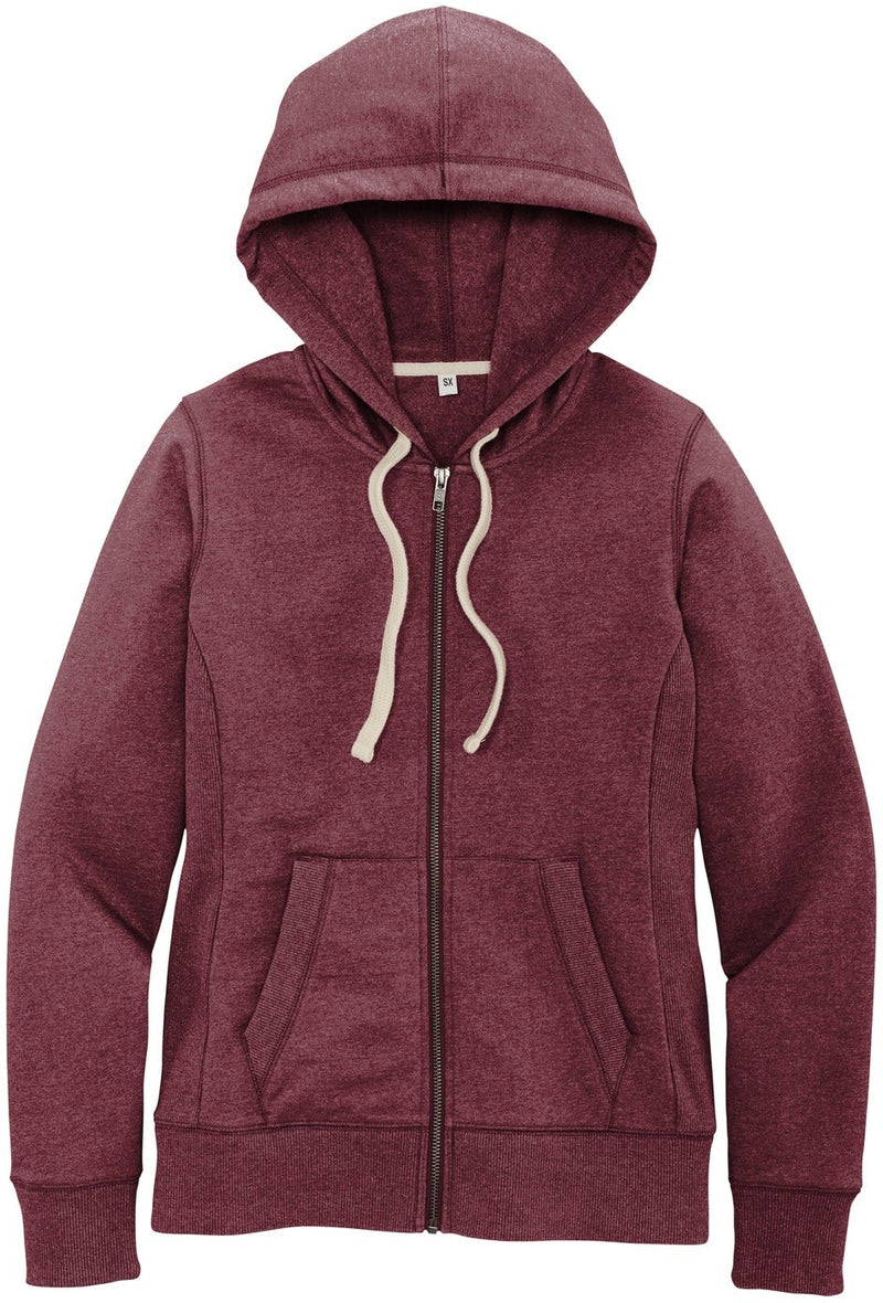 District Ladies Re-Fleece Full-Zip Hoodie-Ladies Layering-Thread Logic