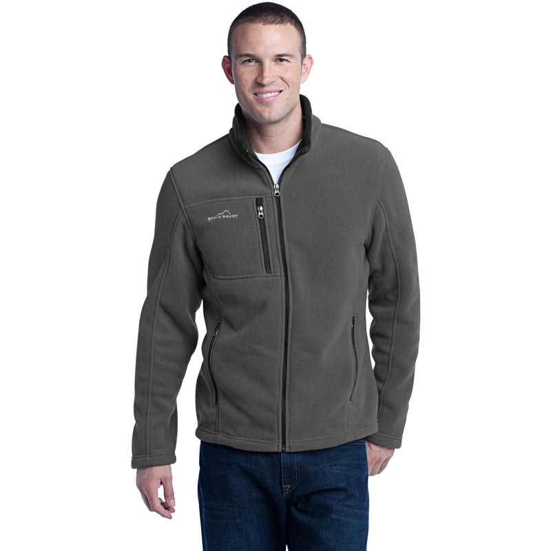Eddie Bauer Full-Zip Fleece Jacket-S-Grey Steel-Thread Logic