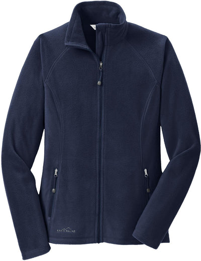 Eddie Bauer Ladies Microfleece Jacket-XS-Navy-Thread Logic