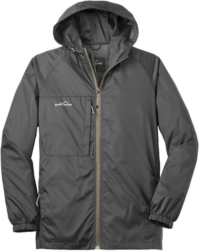 Eddie Bauer Packable Wind Jacket-S-Grey Steel-Thread Logic