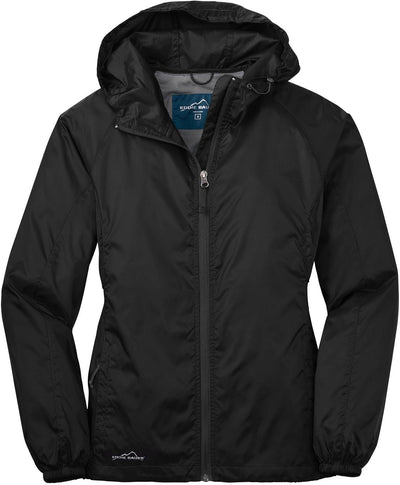 Eddie Bauer Ladies Packable Wind Jacket-XS-Black-Thread Logic