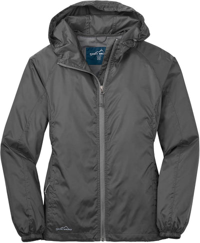 Eddie Bauer Ladies Packable Wind Jacket-XS-Steel Grey-Thread Logic