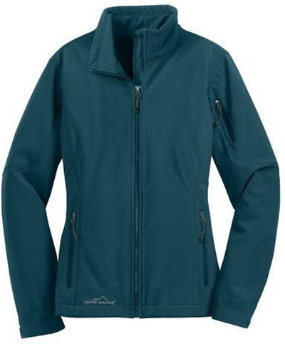 Eddie Bauer Ladies Soft Shell Jacket-XS-Dark Adriatic-Thread Logic