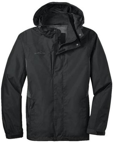 Eddie Bauer Rain Jacket-S-Black/Steel Grey-Thread Logic