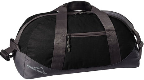 Eddie Bauer Medium Ripstop Duffel-Black/Grey Steel-Thread Logic