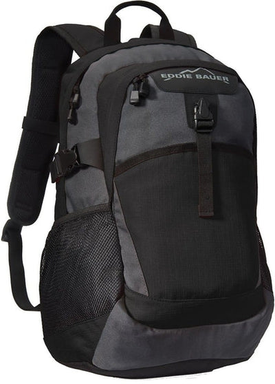Eddie Bauer Ripstop Backpack-Black/Grey Steel-Thread Logic