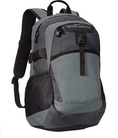 Eddie Bauer Ripstop Backpack-Pewter Grey/Grey Steel-Thread Logic