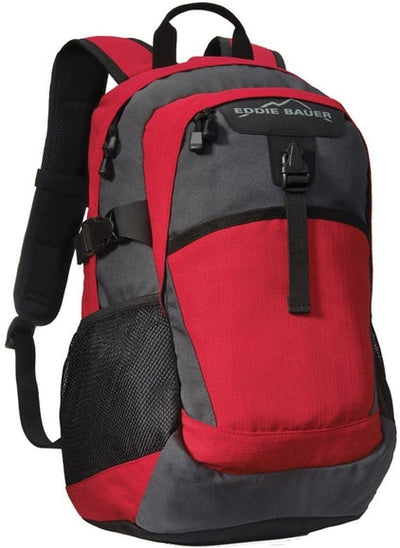 Eddie Bauer Ripstop Backpack-Radish/Grey Steel-Thread Logic