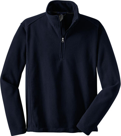 Port Authority-Value Fleece 1/4 Zip Pullover-S-True Navy-Thread Logic