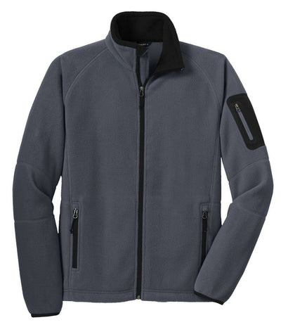Port Authority-Enhanced Value Fleece Jacket-S-Battleship Grey/Black-Thread Logic