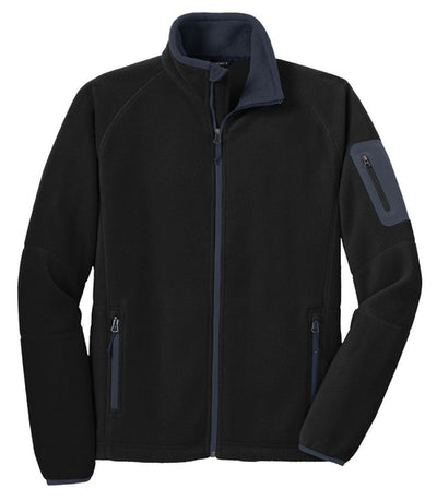 Port Authority-Enhanced Value Fleece Jacket-S-Black/Battleship Grey-Thread Logic