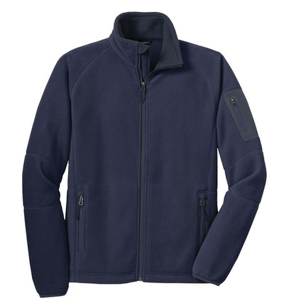 Port Authority-Enhanced Value Fleece Jacket-S-Navy/Battleship Grey-Thread Logic