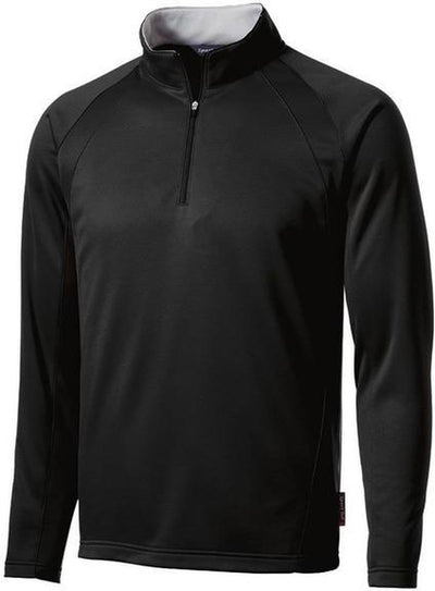 Port Authority-Sport-Wick 1/4 Zip Fleece Pullover-S-Black-Thread Logic