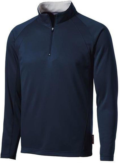 Port Authority-Sport-Wick 1/4 Zip Fleece Pullover-S-Navy-Thread Logic