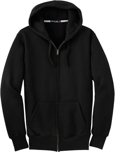 Port Authority-Heavyweight Full Zip Sweatshirt-S-Black-Thread Logic
