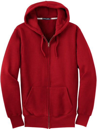 Port Authority-Heavyweight Full Zip Sweatshirt-S-Red-Thread Logic