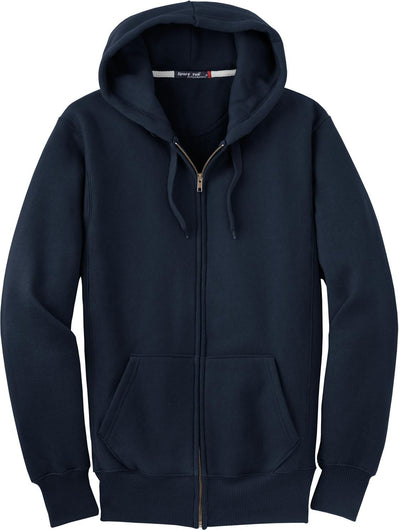 Port Authority-Heavyweight Full Zip Sweatshirt-S-Navy-Thread Logic