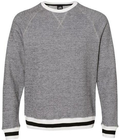 J America Peppered Fleece Crewneck Sweatshirt