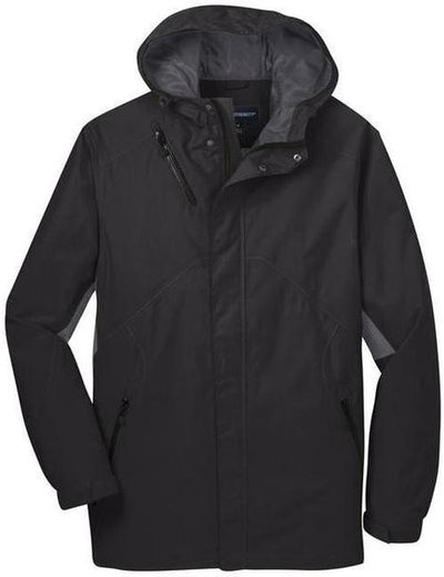 Port Authority-Cascade Waterproof Jacket-S-Black/Magnet Grey-Thread Logic