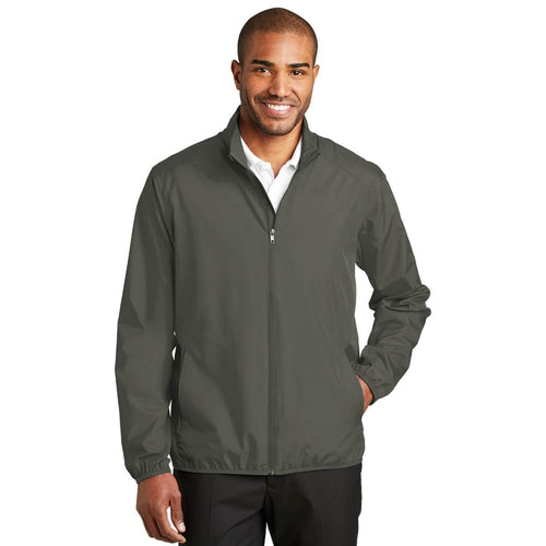 Port Authority-Zephyr Full-Zip Jacket-S-Grey Steel-Thread Logic