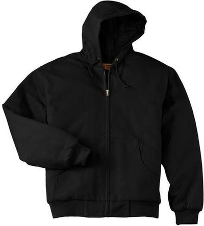 Port Authority-Duck Cloth Hooded Work Jacket-S-Black-Thread Logic