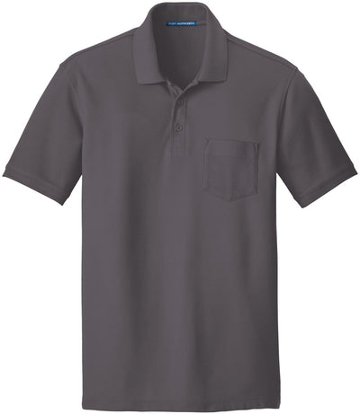 Port Authority-Core Classic Pique Pocket Polo-S-Graphite-Thread Logic