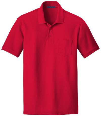 Port Authority-Core Classic Pique Pocket Polo-S-Rich Red-Thread Logic